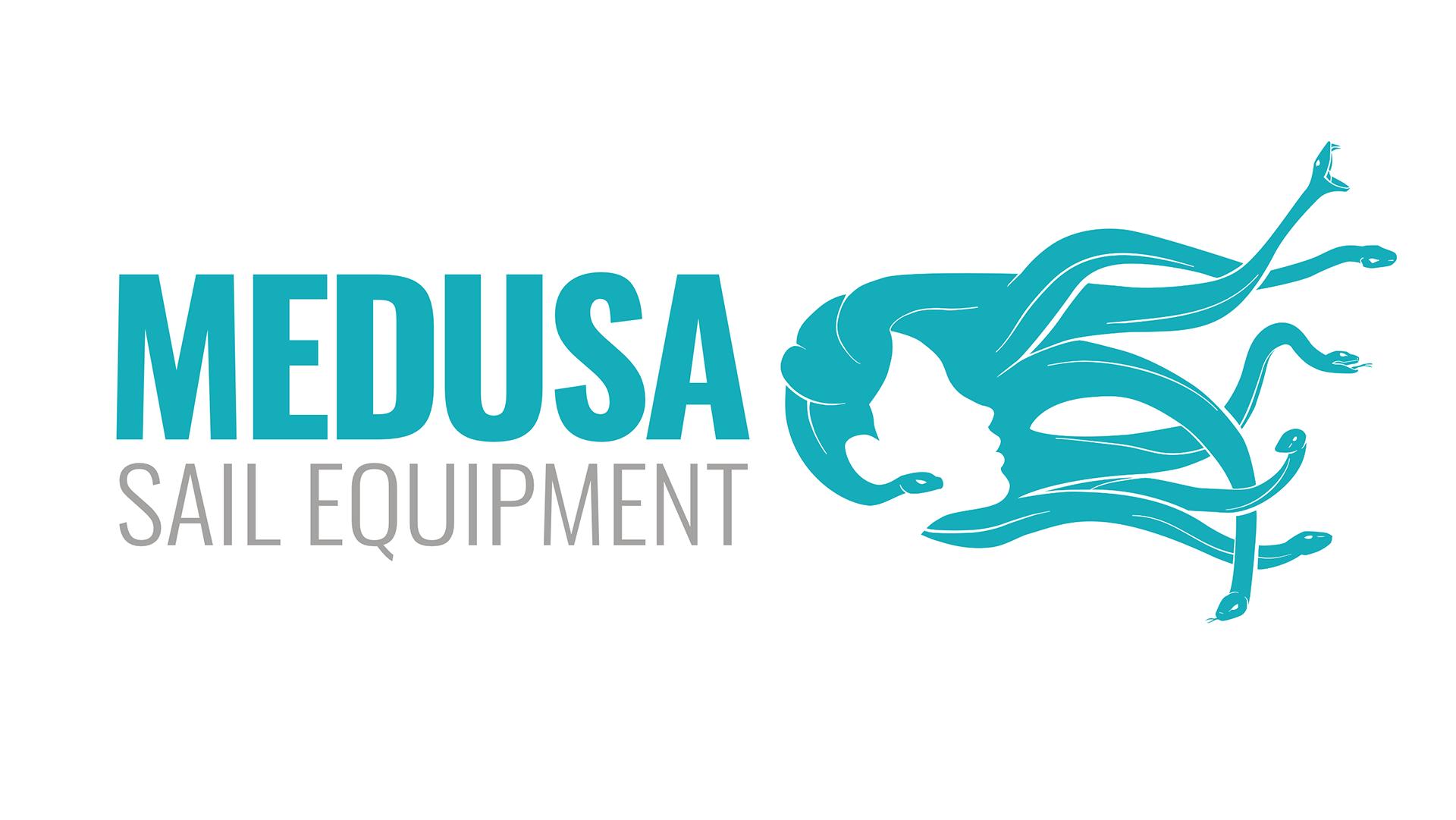 Diseño gráfico-marca-logotipo de Medusa Sail Equipment-Mallorca
